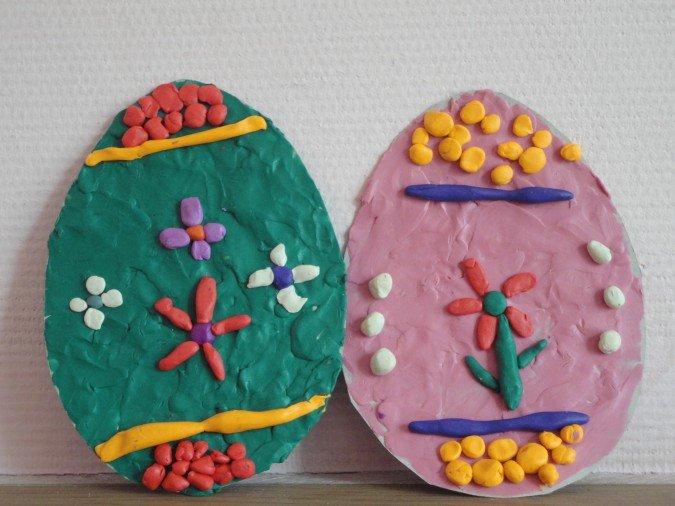 Декор картонного яйца