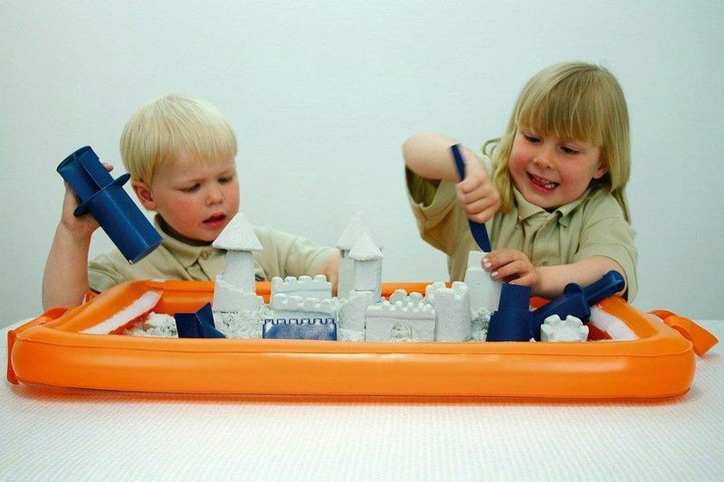 Оригинальные игры с кинетическим песком для детей от 3 до 12 лет