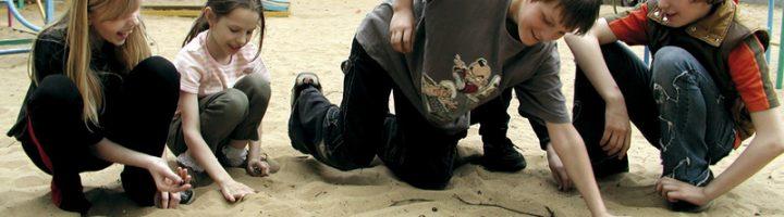 дети играют в марблс