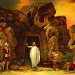 Иисус выходит из пещеры