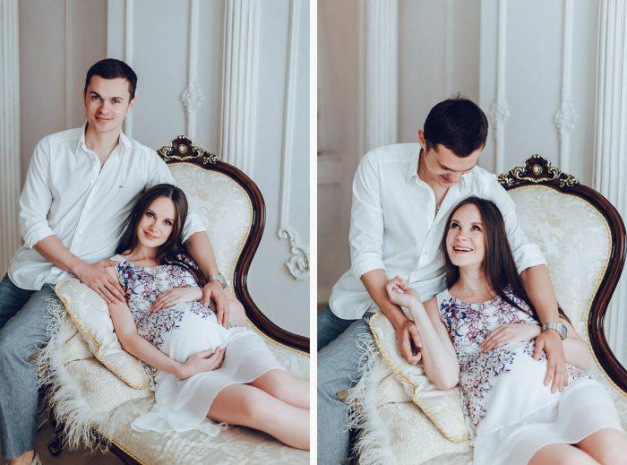 Фото беременной с мужем