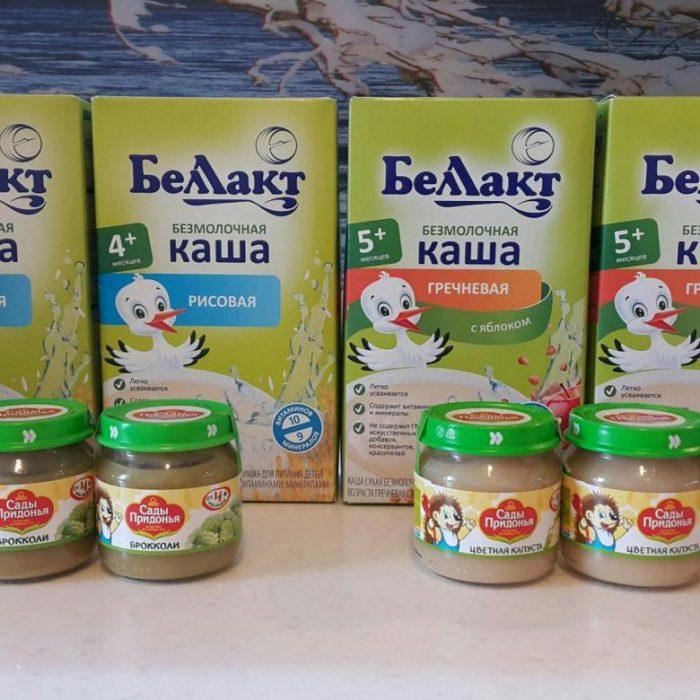 Безмолочные каши «БеЛакт» и овощные пюре «Сады Придонья»