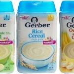 Gerber: безмолочные каши в ассортименте