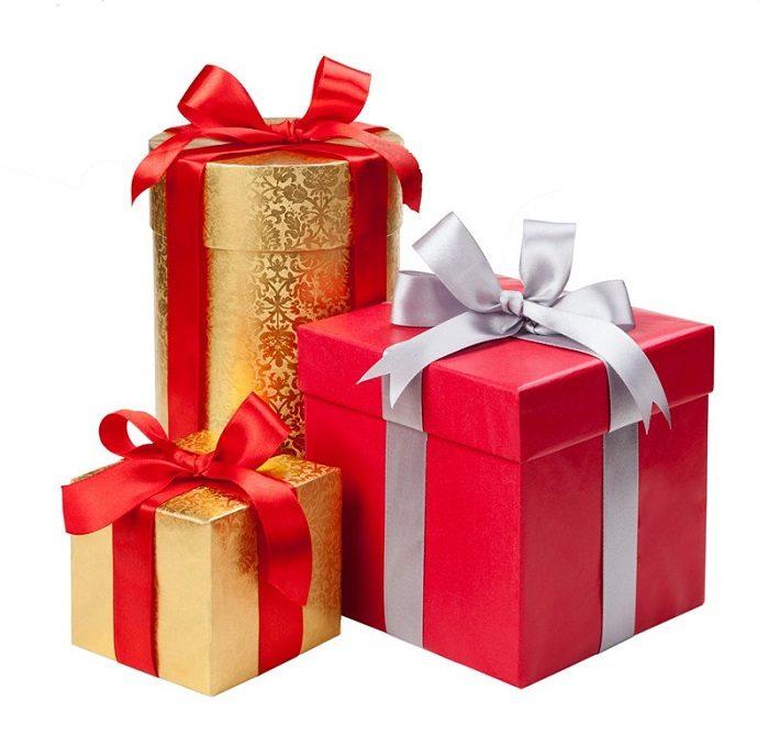 Подарки в красивых коробках
