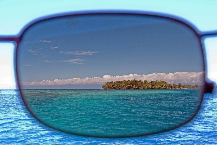 Морской пейзаж в поляризационных очках