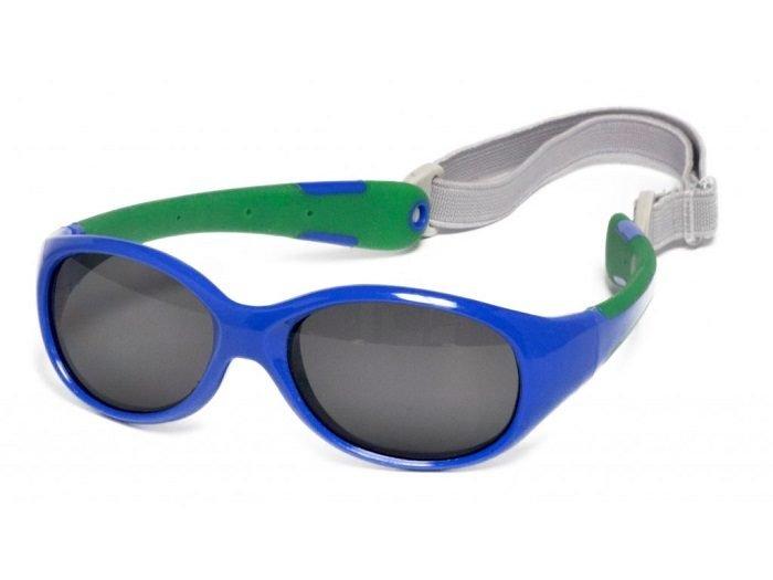 Детские солнечные очки с гибкими дужками и эластичной резинкой