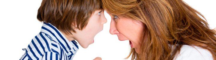 Ребёнок ругается с мамой