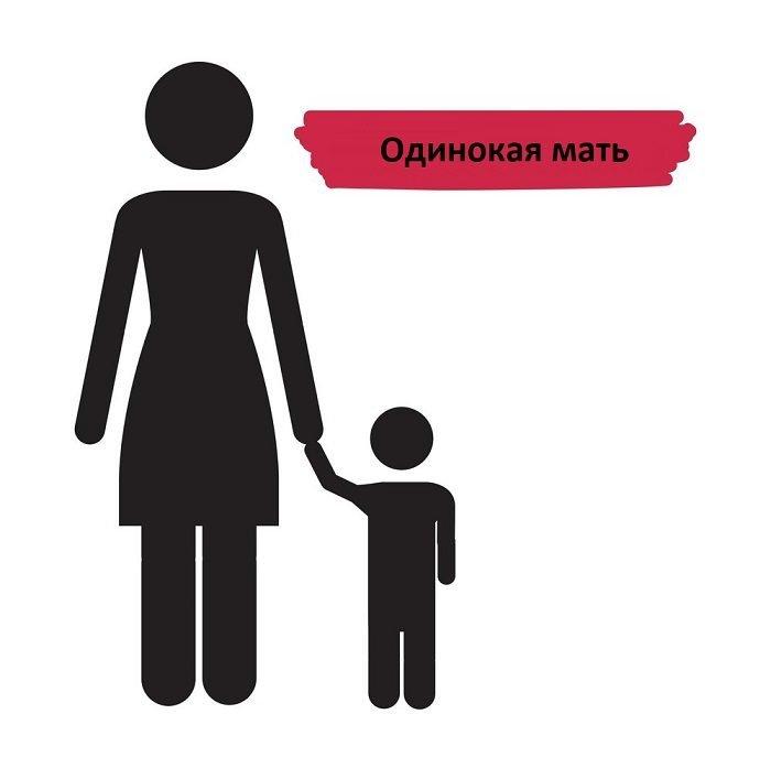 Мать с ребёнком, силуэтное изображение