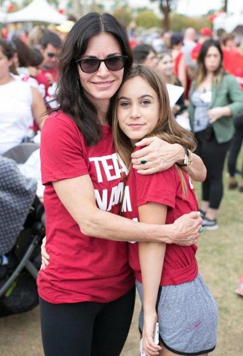 Кортни Кокс с дочерью