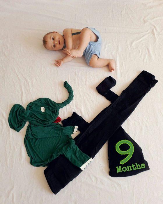 Фото малыша с декором из пледов