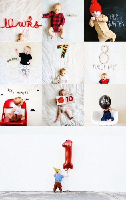 фото малыша с цифрами из игрушек и другого