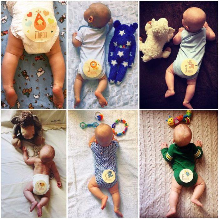 фото младенца со спины