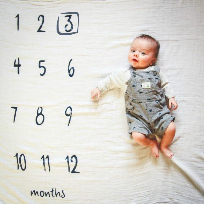 Календарь на ткани для фото по месяцам