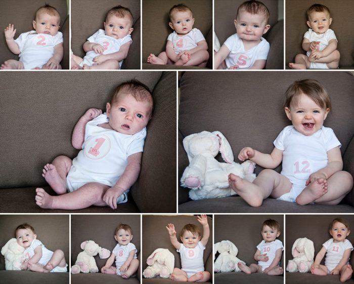 фото малыша со стикерами по месяцам