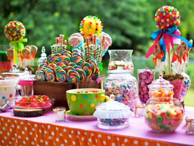 Кэндибар своими руками на детский день рождения: подбор сладостей и разнообразие оформления