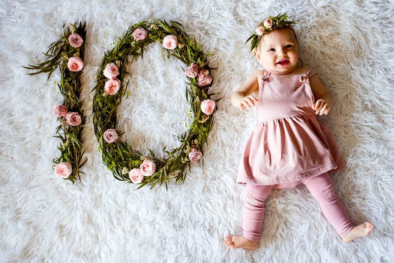 Фото младенца по месяцам: 25+ оригинальных идей для первой хроники ребёнка