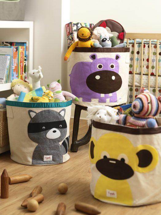 корзины для игрушек с аппликациями