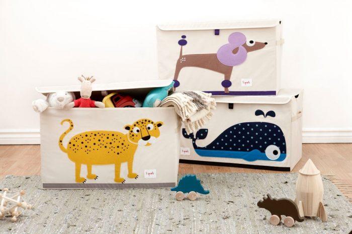 прямоугольные корзины для игрушек с крышками