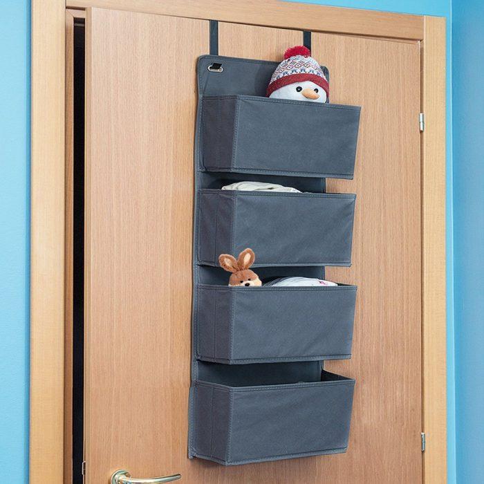 органайзер на дверь серый