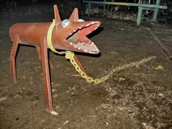 собака из трубы