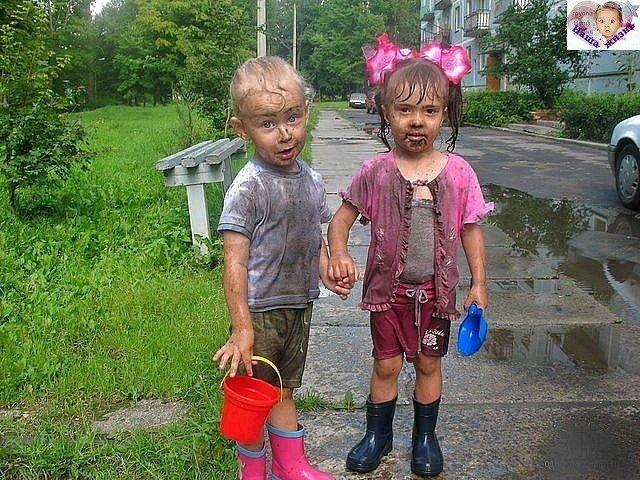 дети чумазые