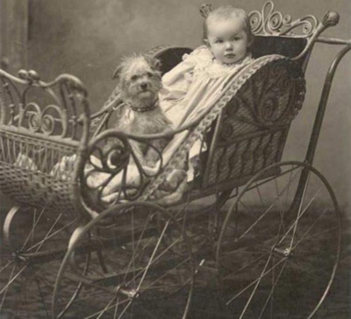 старинная детская коляска 6