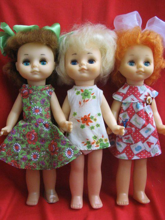 Три куклы советского времени