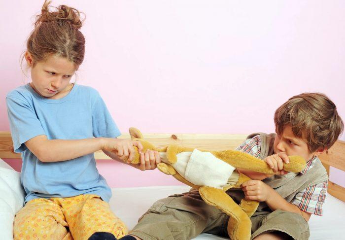Дети не могут поделить игрушку