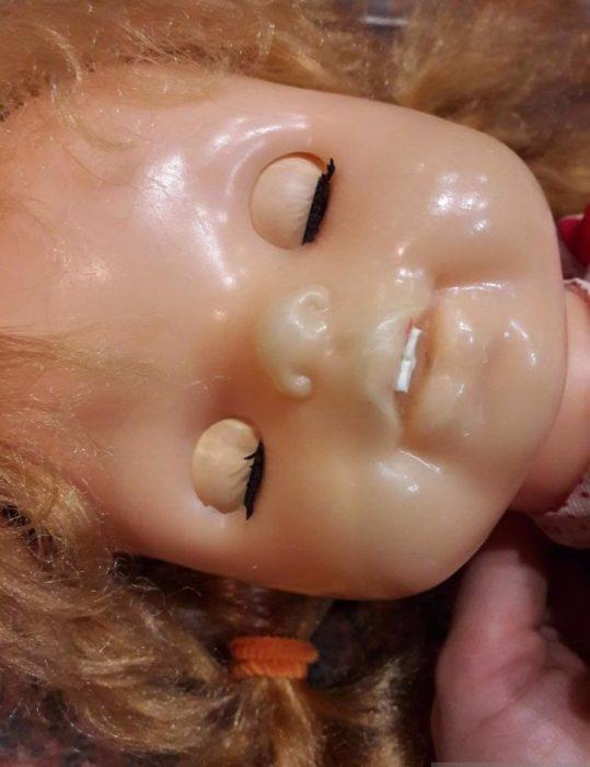 Лицо куклы Лика Киевской фабрики игрушек «Победа»