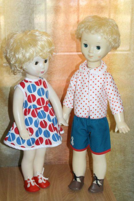 Загорские дети, неразлучные куклы (брат и сестра)