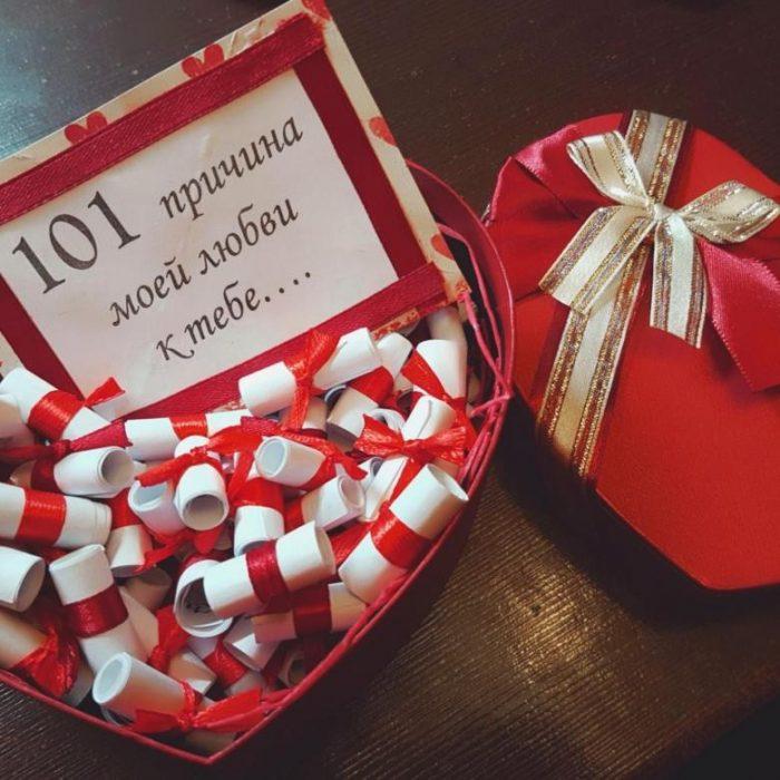 101 причина любви к тебе коробка с записками