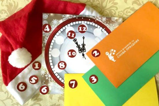 Новогодние часы без циферблата