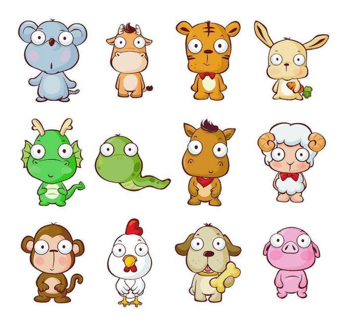 Забавные изображения животных — символов года