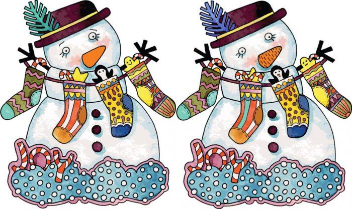 Снеговики, имеющие отличия