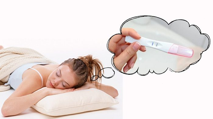 Девушке снится положительный тест на беременность