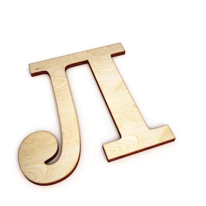 деревянная буква л