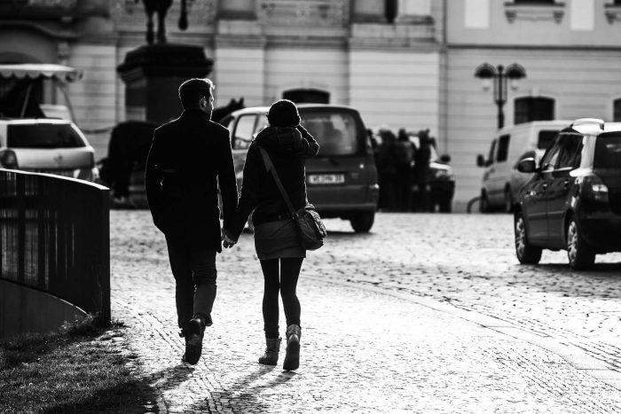 черно-белое фото мужчина и женщина