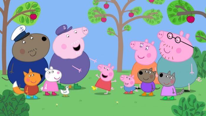 Разные животные в мультфильме
