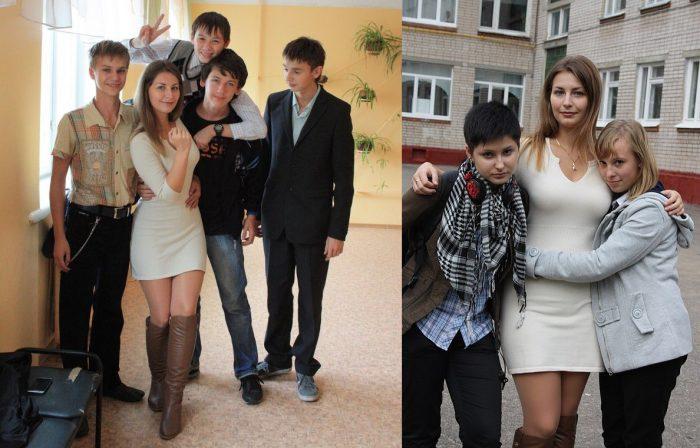 Юлия Дмитриева с учениками