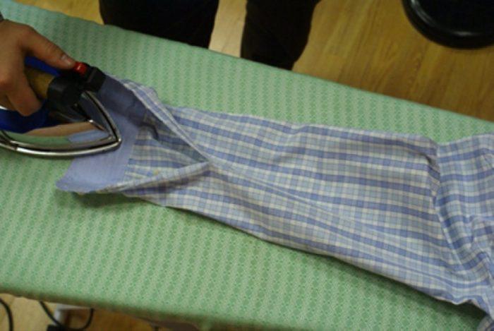 Гладим манжет рубашки
