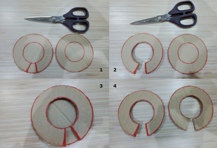 Картонный круг ля изготовления помпона