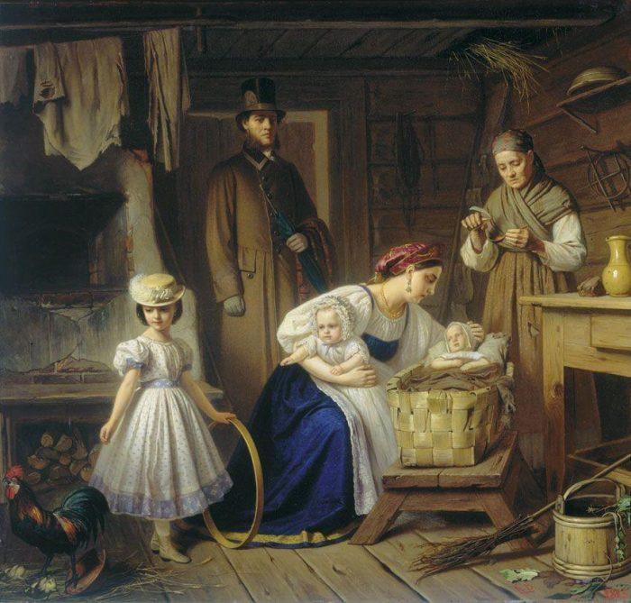Кормилица навещает своего ребёнка