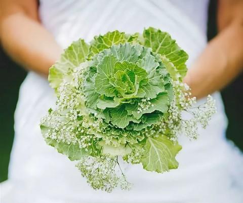 свадебный букет из капусты