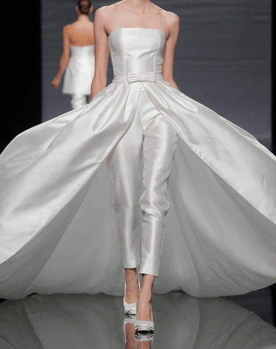 свадебное платье с брюками