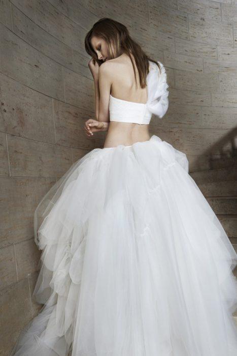 свадебный топ и юбка