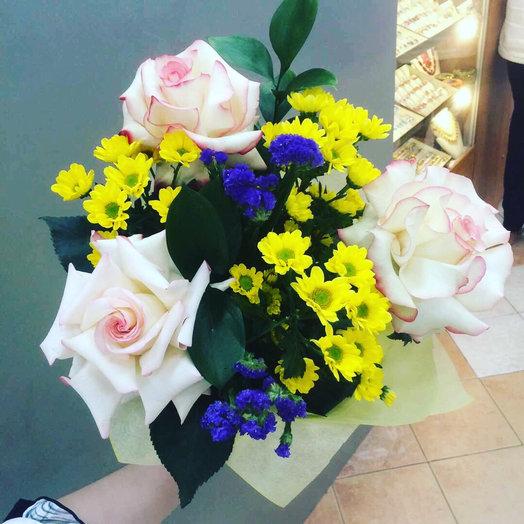 букет на первое сентября с хризантемами