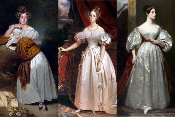 Платья женщин в начале XIX века