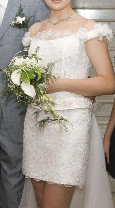 Букет невесты к короткому платью