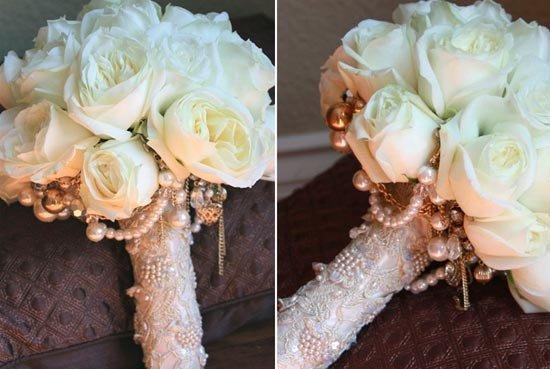 Свадебный букет в «корсете»