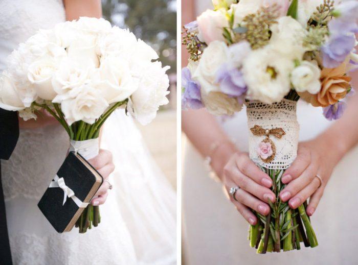 Свадебный букет с аксессуаром